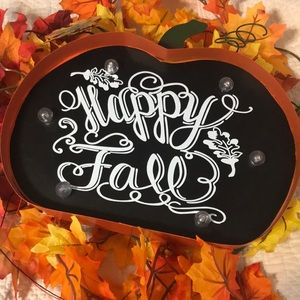 Other - Light Up Happy Fall Metal Sign🍁